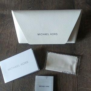 Michael Kors White Eyeglass Case